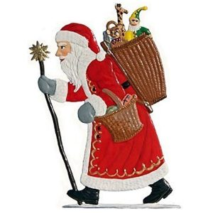 Wilhelm Schweizer Striding Santa with a Basket of Toys image