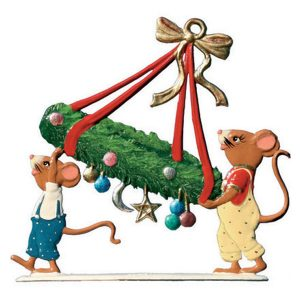 Mice Carrying Advent Wreath by Wilhelm Schweizer Image