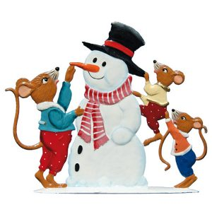 Mice with Snowman by Wilhelm Schweizer Image