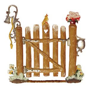 Garden Wooden Gate in Winter by Wilhelm Schweizer Image