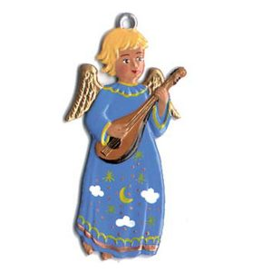 Angel with Lute Ornament by Wilhelm Schweizer Image