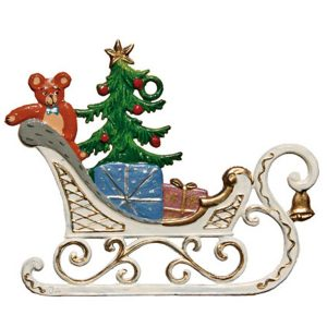 Sleigh with Gifts Ornament by Wilhelm Schweizer Image