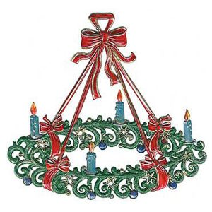 Large Advent Wreath Ornament by Wilhelm Schweizer Image