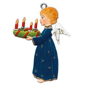 Angel with Advent Wreath Ornament by Wilhelm Schweizer Image