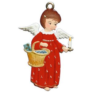 Angel with Basket and Candle Ornament by Wilhelm Schweizer Image