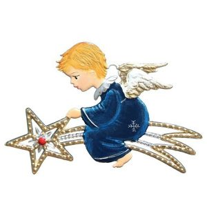 Angel on a Shooting Star Ornament by Wilhelm Schweizer Image