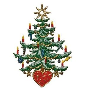 Christmas Tree with Heart Ornament by Wilhelm Schweizer Image