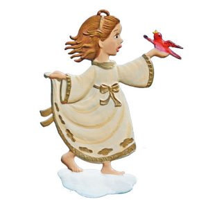 Angel with a Dove Ornament by Wilhelm Schweizer Image