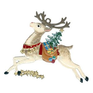 Reindeer with Gifts Ornament by Wilhelm Schweizer Image