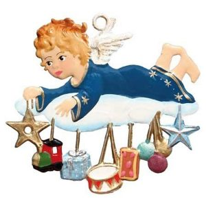 Angel with Gifts on Cloud Ornament by Wilhelm Schweizer Image