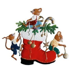 Mice in Boot Ornament by Wilhelm Schweizer Image