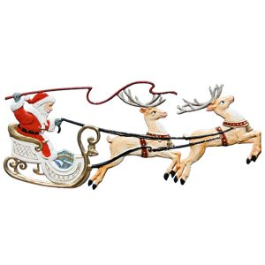 Santa in Sleigh with Two Reindeer Ornament by Wilhelm Schweizer Image