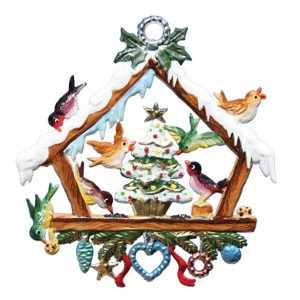 Christmas with the Birds Ornament by Wilhelm Schweizer Image