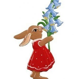 Bunny with Bell Flowers Ornament by Wilhelm Schweizer Image