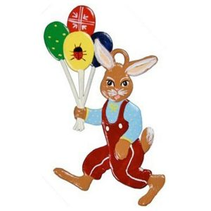 Bunny with Balloons Ornament by Wilhelm Schweizer IMAGE