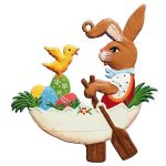 Bunny in Egg Boat Ornament by Wilhelm Schweizer Image