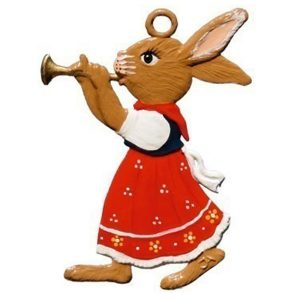 Bunny Girl Playing Trumpet Ornament by Wilhelm Schweizer Image