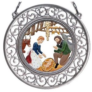 Nativity Wall Hanging in Filigree Frame by Wilhelm Schweizer Image