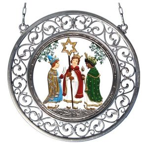 Carolers Wall Hanging in Filigree Frame by Wilhelm Schweizer Image