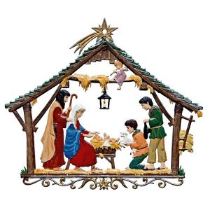 Nativity Stable Wall Hanging by Wilhelm Schweizer Image