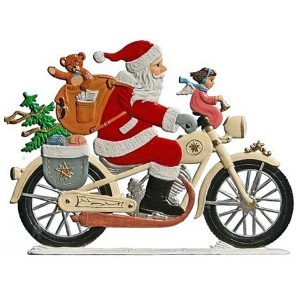 Santa on Motorcycle by Wilhelm Schweizer Image