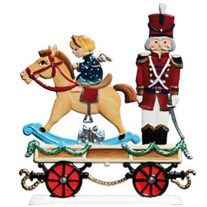 Train Car with Solider and Toy Horse by Wilhelm Schweizer Image