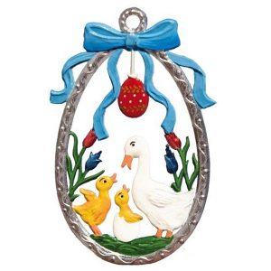 Egg with Duck Family Ornament by Wilhelm Schweizer Image