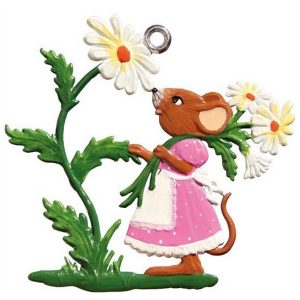 Mouse with Daisy Ornament by Wilhelm Schweizer Image