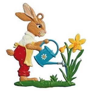 Bunny with Watering Can Ornament by Wilhelm Schweizer Image