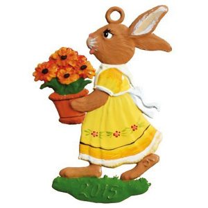 Bunny Girl with Potted Flower Ornament by Wilhelm Schweizer Image