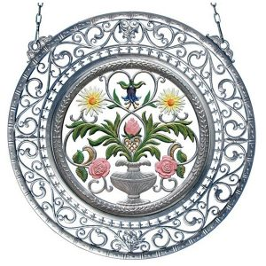 Flowers Wall Hanging in Filigree Frame by Wilhelm Schweizer Image