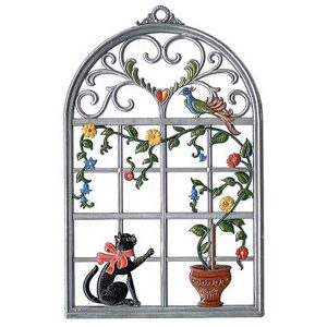 Window with Cat Wall Hanging by Wilhelm Schweizer Image