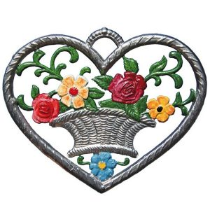 Heart with Flower Basket by Wilhelm Schweizer Image