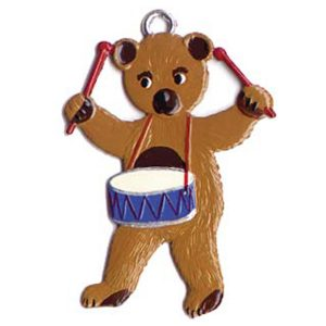 Teddy Bear with Drum Ornament by Wilhelm Schweizer Image