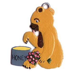 Teddy Bear with Honey Ornament by Wilhelm Schweizer Image