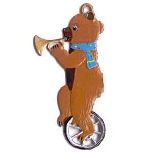 Teddy Bear on Unicycle Ornament by Wilhelm Schweizer Image