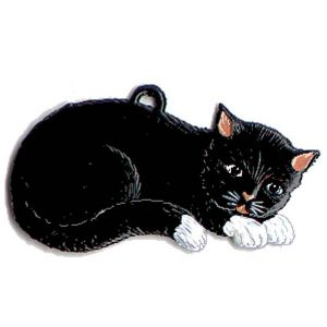 Sleeping Cat Ornament by Wilhelm Schweizer Image