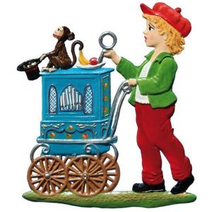 Little Organ Grinder Ornament by Wilhelm Schweizer Image