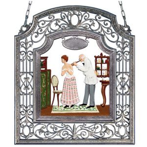 The Doctor Wall Hanging in Filigree Frame by Wilhelm Schweizer Image