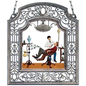 The Dentist Wall Hanging in Filigree Frame by Wilhelm Schweizer Image