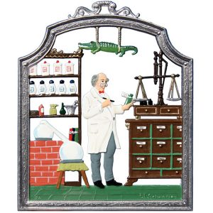 The Pharmacist Wall Hanging by Wilhelm Schweizer Image