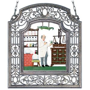 The Pharmacist Wall Hanging in Filigree Frame by Wilhelm Schweizer Image