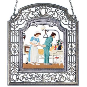 The Nurse Wall Hanging in Filigree Frame by Wilhelm Schweizer Image