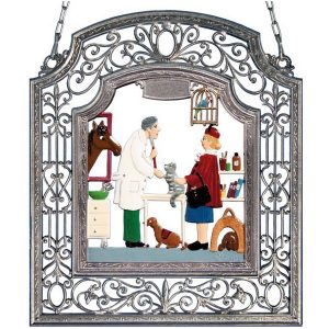 The Veterinarian Wall Hanging in Filigree Frame by Wilhelm Schweizer Image