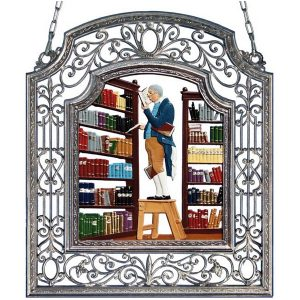 The Librarian Wall Hanging in Filigree Frame by Wilhelm Schweizer Image