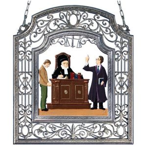 The Attorney Wall Hanging in Filigree Frame by Wilhelm Schweizer Image