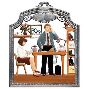 The Secretary Wall Hanging by Wilhelm Schweizer Image