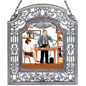 The Secretary Wall Hanging in Filigree Frame by Wilhelm Schweizer Image