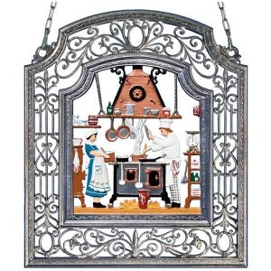 The Chef Wall Hanging in Filigree Frame by Wilhelm Schweizer Image