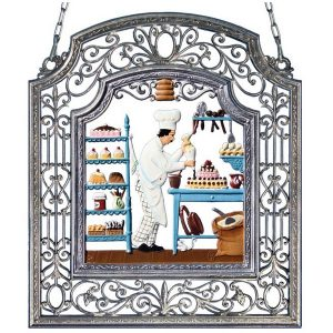 The Pastry Chef Wall Hanging in Filigree Frame by Wilhelm Schweizer Image